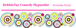 Logo for DebbieTay Comedy Hypnotist of Portland, Oregon